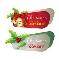 Rabatt Banner für Weihnachten