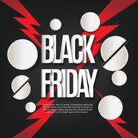 Sfondo nero venerdì con dettagli rossi