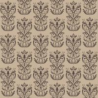 Floral pattern. Wallpaper baroque, damask. Seamless vector background. Brown ornament