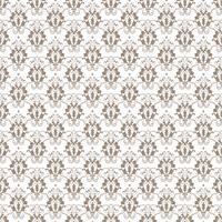 Estampa floral. Papel de parede barroco, damasco. Vetor sem costura de fundo. Ornamento cinza e branco