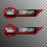 Badge noir vendredi