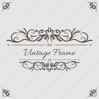 Vintage blommig prydnad