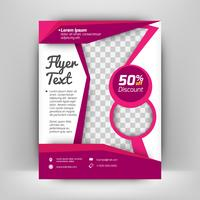 Modelo de design de vetor para brochura, relatório anual, revista, cartaz, apresentação corporativa, portfólio, Flyer, layout moderno com cor preto e roxo