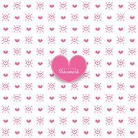 Seamless hearts pattern. Vector repeating texture