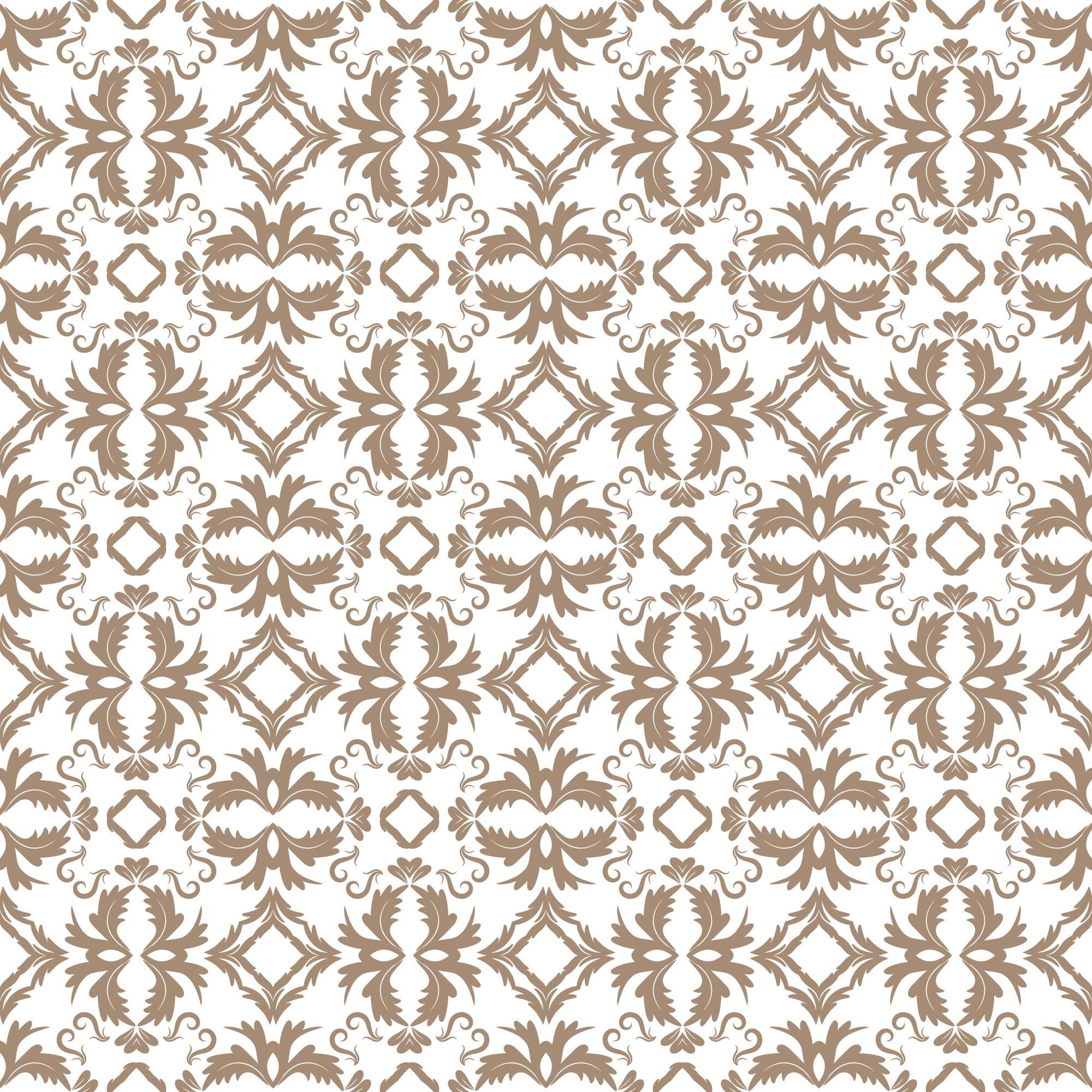 Floral pattern  Wallpaper baroque, damask  Seamless vector