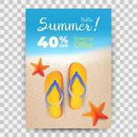 Summer Sale promo banner with blurred background