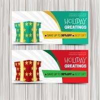 Modelo de banner de vendas de férias criativas