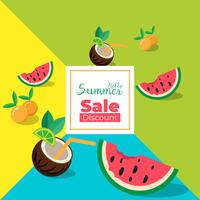 Summer Sale banner with pieces of fruit