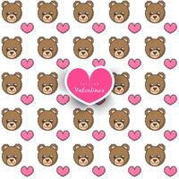 Seamless pattern with bear