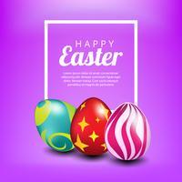 Oeufs de Pâques de couleur pour votre conception. Flou fond violet