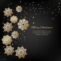Merry Christmas! Snowflakes with shadow on a luxury background.