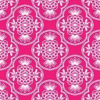 Floral pattern. Wallpaper baroque, damask. Red and white ornament