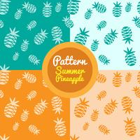 Colorful pineapple patterns