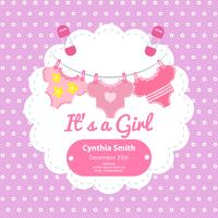 Baby shower card con belle camicie