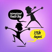 Youth day background with silhouettes
