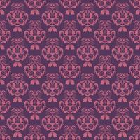 Floral pattern. Wallpaper baroque, damask. Seamless vector background. Purple and pink ornament