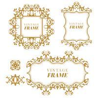 Set vettoriale vintage. Elementi floreali per la progettazione di monogrammi, inviti, cornici, menu ed etichette