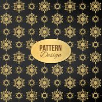 Golden pattern with mandala and luxury design