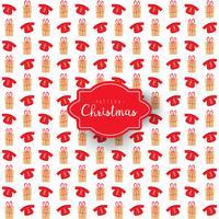 Patrón navideño de cajas de regalo y sudadera.