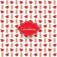 Christmas pattern of gift boxes and sweatshirt