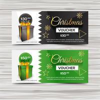 Modelo de banner de voucher de Natal criativo