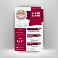 Unique Flat Color Curriculum Vitae Design Template With avatar