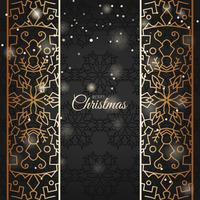 Elegant Christmas Background with shining golden ornament
