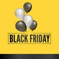 Sfondo nero palloncino venerdì