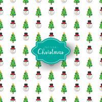 Bonhomme de neige et arbre de Noël vecteur