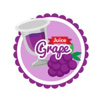 Sticker grape juice