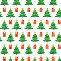 Christmas seamless pattern with tree