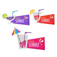 Hand drawn round colorful summer paper stickers
