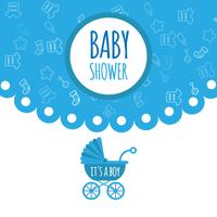 Baby shower for newborn celebration greeting and invitation card