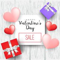 Heart gift present with hearts Valentines day vector illustration for design