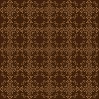 Seamless damask pattern background for wallpaper design. Brown color