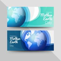 Happy mother earth day banners