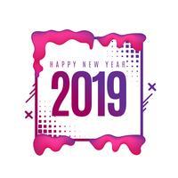 Fondo abstracto y colorido 2019