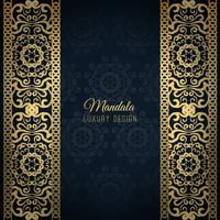 Blue luxury mandala design background