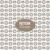 Pattern with ornaments and mandala shapes
