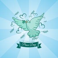 Dia Internacional da Paz com estilo handrawn