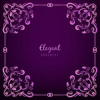 Ornament frame on purple background