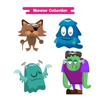 Schattige monsters cartoon