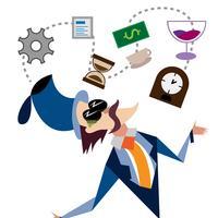Elementi di illustrazione dell'uomo d'affari
