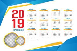 2019 business calendar design concept