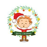 Sfondo di Natale con un ragazzo carino