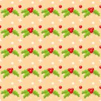 Christmas seamless pattern with mistletoe
