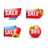 Vector stickers sale, offers and promotions