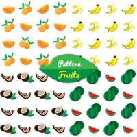 Motif aux fruits tropicaux