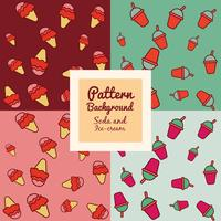 Ice cream and beverage pattern
