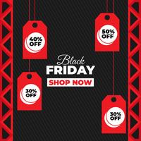 Black friday background in flat design